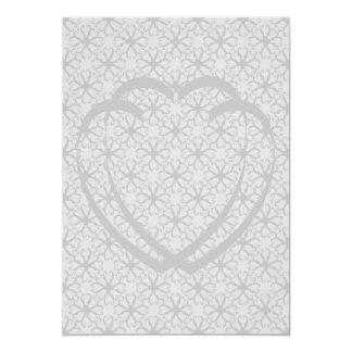 Interlocking Hearts Wedding Invitation