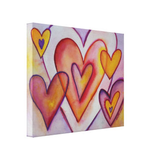 Interlocking Love Hearts Canvas Art Paintings
