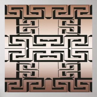 Interlocking Maze Poster