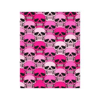 Interlocking Pink Skull Pattern Canvas Prints
