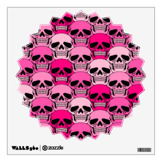 Interlocking Pink Skull Pattern Wall Decor