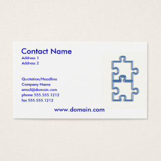 Interlocking Puzzle Pieces Business Card