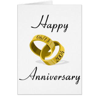 Interlocking Rings - Engraved custom Wedding Date