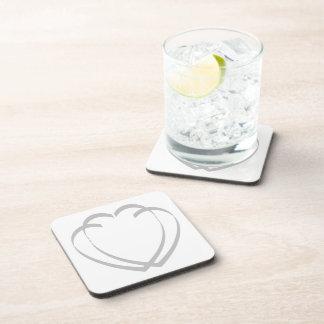 Interlocking Silver Hearts Coaster Set
