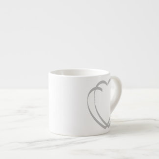 Interlocking Silver Hearts Espresso Mug