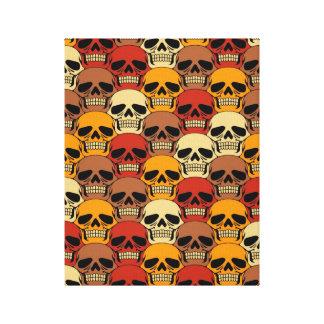 Interlocking Skull Pattern Canvas Print