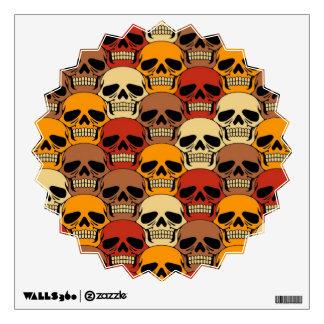Interlocking Skull Pattern Room Graphics