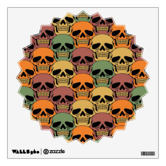 Interlocking Skull Pattern with Faded Color Wall Graphic