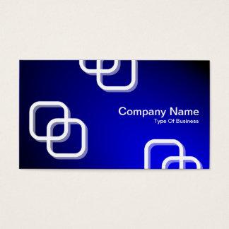 Interlocking Squares 3d - Spotlit - Blue Business Card