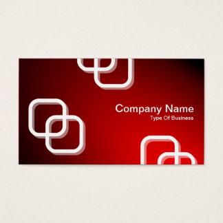 Interlocking Squares 3d - Spotlit - Red Business Card