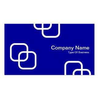 Interlocking Squares - White on 000099 Business Card