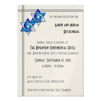 Interlocking Stars (Reception Invite) Card