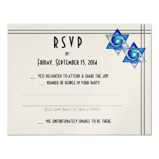 Interlocking Stars (Wedding Reply Card) Card