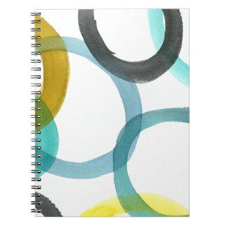 Interlocking Yellow & Blue Circles Note Book