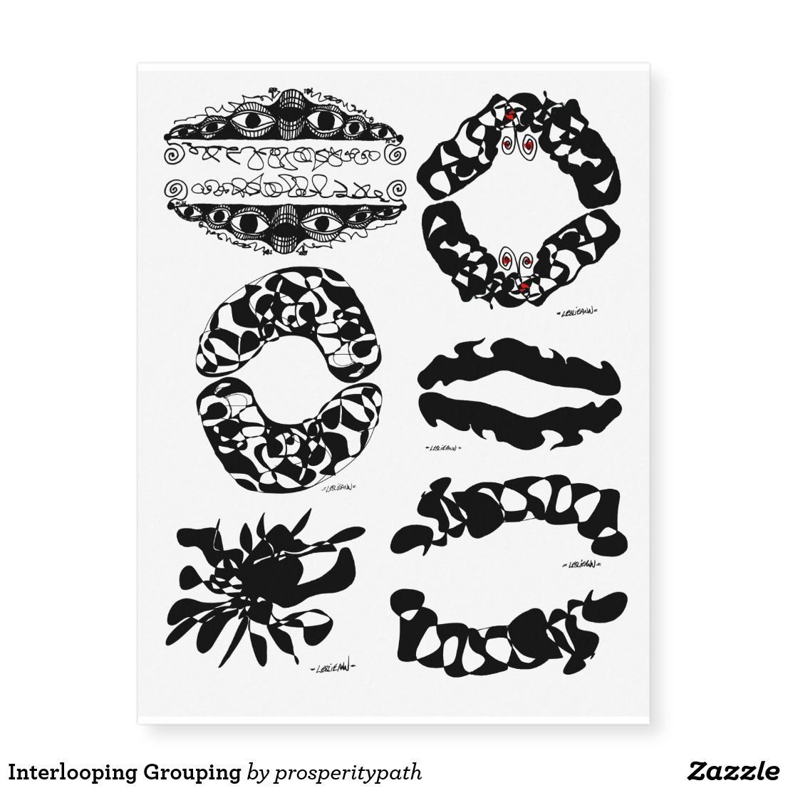 Interlooping Grouping Temporary Tattoos