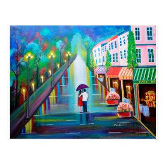 Interludio romántico - París Tarjetas Postales