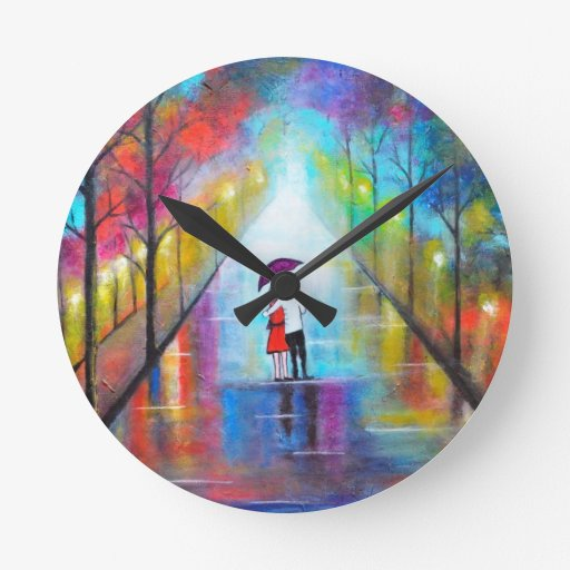 Interludio romántico reloj redondo mediano