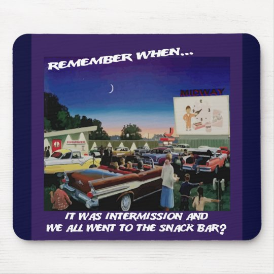 Intermission at the Drive In Mousepad
