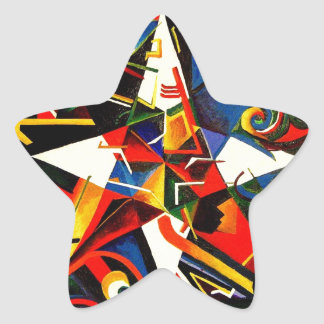 intermixing Color Star Star Sticker