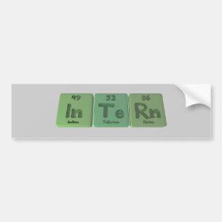 Intern-In-Te-Rn-Indium-Tellurium-Radon.png Bumper Sticker