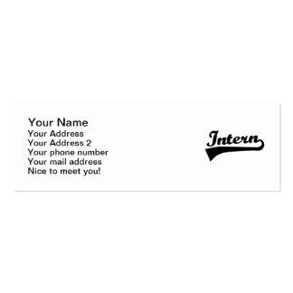 Intern Mini Business Card