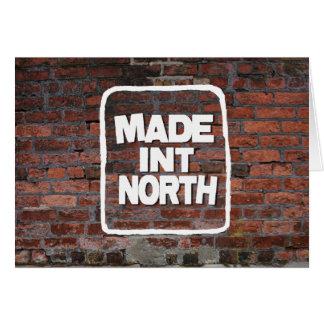 Internacional hecha del norte tarjeta de felicitación