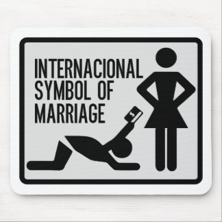 Internacional Symbol of Marriage Mouse Pad