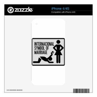 Internacional Symbol of Marriage Skin For iPhone 4