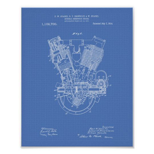 Internal combustion engine 1914 patent blueprint poster zazzle internal combustion engine 1914 patent blueprint poster malvernweather Choice Image