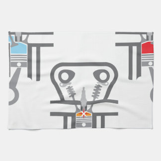 Internal combustion engine vector hand towel