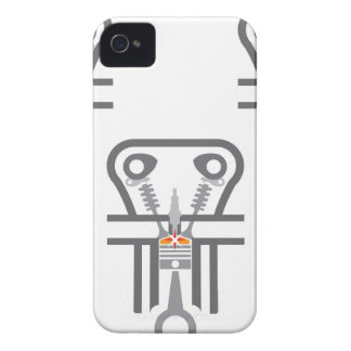 Internal combustion engine vector iPhone 4 case