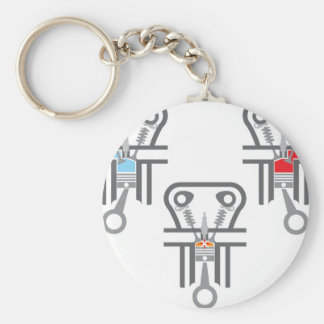 Internal combustion engine vector keychain