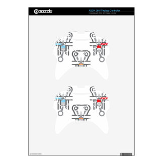 Internal combustion engine vector xbox 360 controller skin