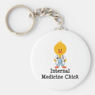Internal Medicine Chick Keychain