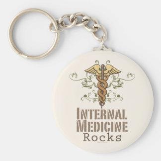 Internal Medicine Rocks Caduceus Key Chain