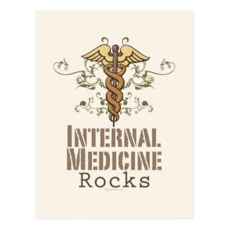 Internal Medicine Rocks Caduceus Postcard