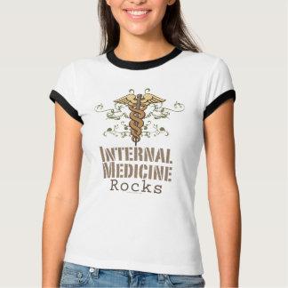 Internal Medicine Rocks Caduceus Ringer Tee Shirt