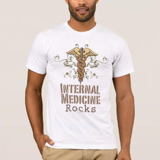 Internal Medicine Rocks Caduceus T shirt