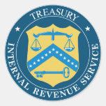 Internal Revenue Service IRS Classic Round Sticker