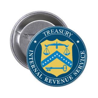 Internal Revenue Service IRS Pin Redondo De 2 Pulgadas