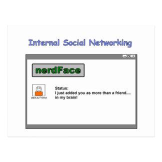 Internal Social Networking Postcard