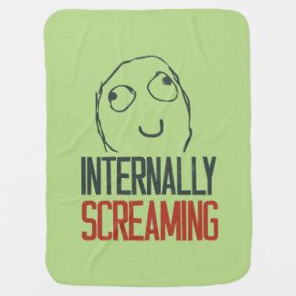 Internally screaming meme receiving blankets