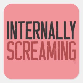 Internally Screaming Square Sticker