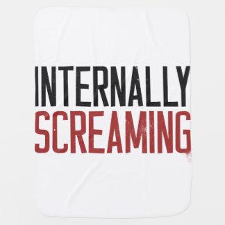 Internally Screaming Receiving Blanket