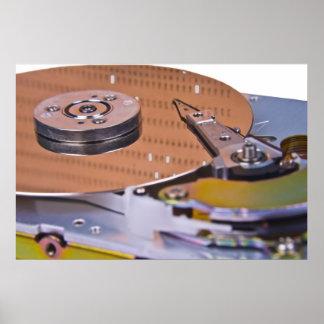 Internals de una unidad de disco duro impresiones