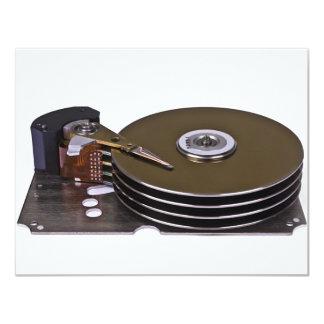 """Internals de una unidad de disco duro invitación 4.25"""" x 5.5"""""""