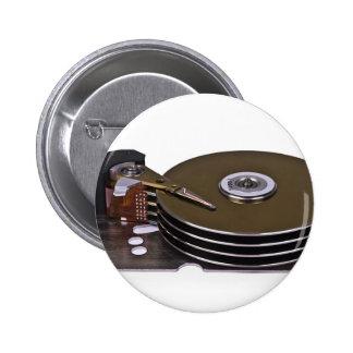Internals de una unidad de disco duro pins