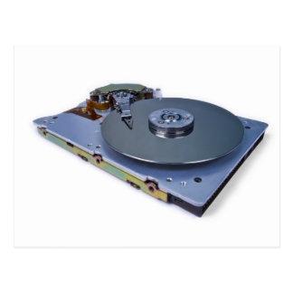 Internals de una unidad de disco duro postales