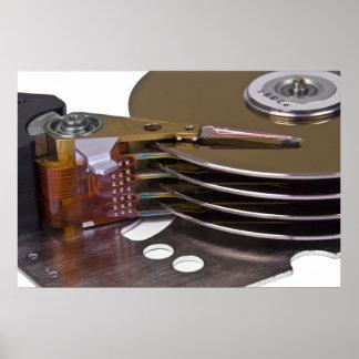 Internals de una unidad de disco duro posters