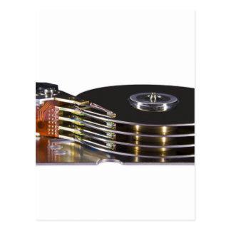 Internals de una unidad de disco duro tarjetas postales